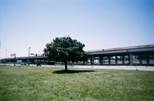 An photo from May 2012 of the old elevated crosstown expressway before it was taken down.